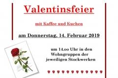 Valentinsfeier 2019
